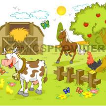 disegni fattoria per bambini da muro