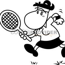 mascotte tennis bambini